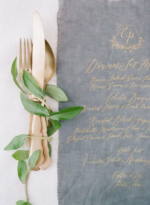 ustensiles, vert, menu
