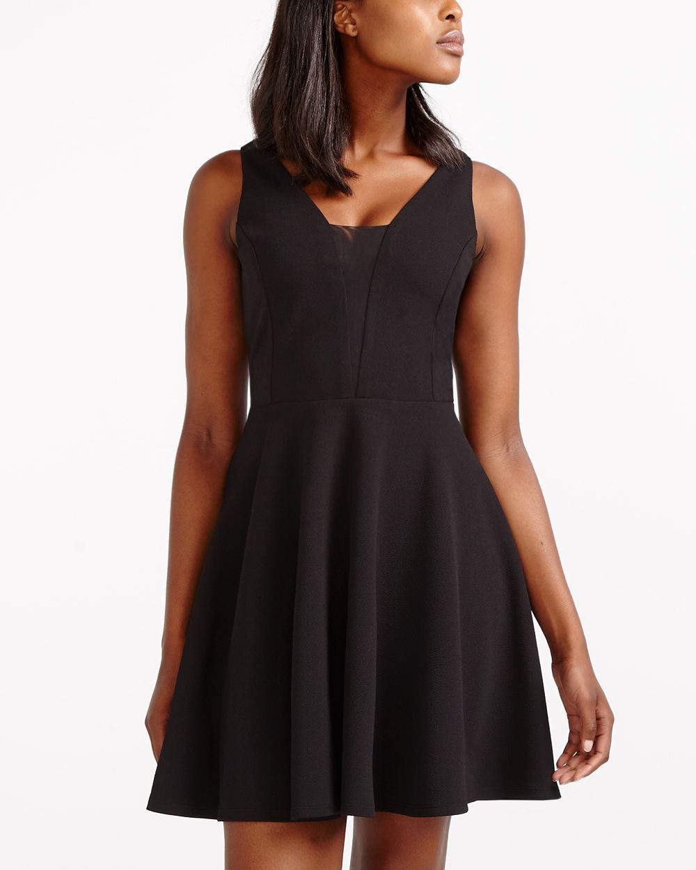 robe, noire, classique