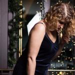 Une slip dress en velours? Joyeux Noël!