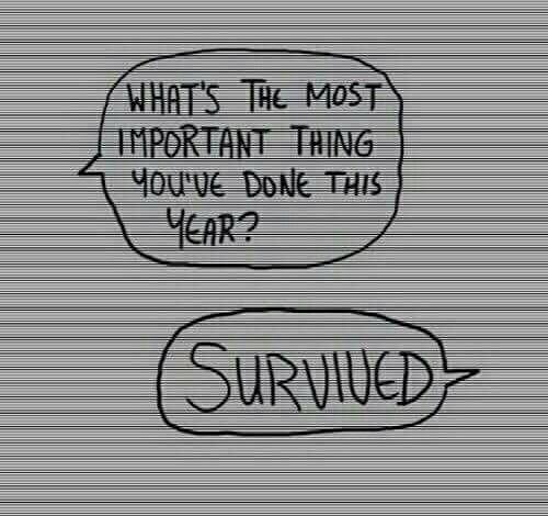 année survivre difficulté