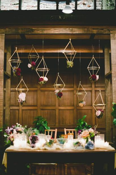 mariage table luminaire