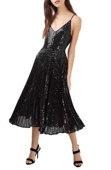robe évasée paillette