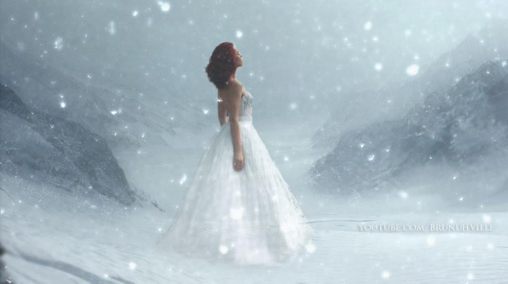 femme neige hiver