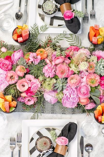 table fleurs mariage