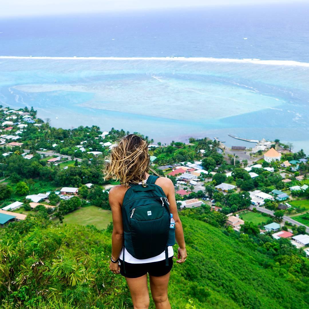moorea island jungle view tahiti polynesia