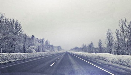route, drive, winter,