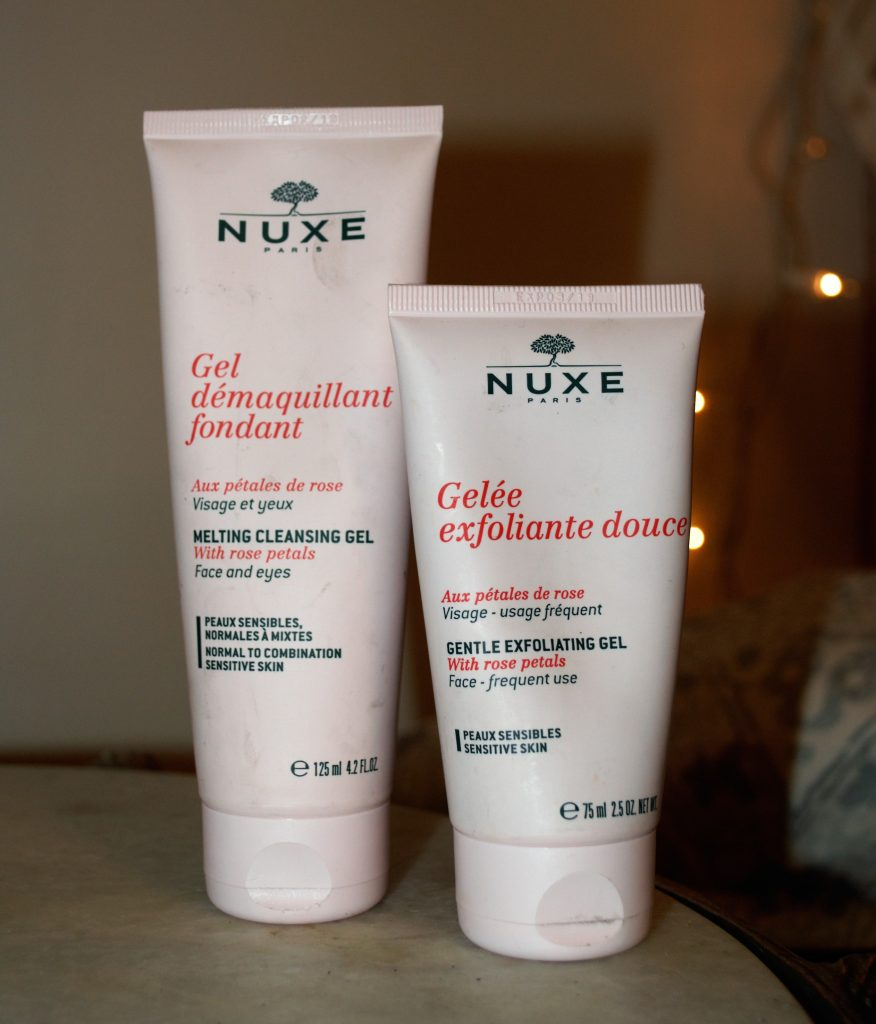 nuxe, pétale, rose, hydratant, gommage