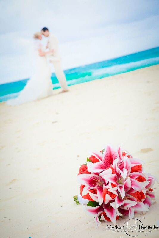 mariage plage bouquet