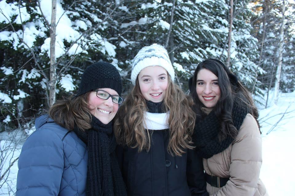soeurs hiver nature