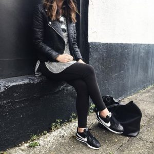 comfy, blackandwhite, outfit, sporty