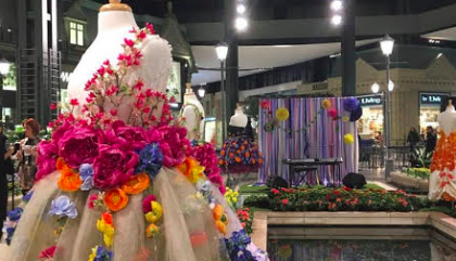 LaSalle College Students Have Their Floral Dresses Showcased at CF Carrefour Laval