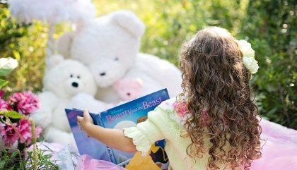 reading, girl, fillette