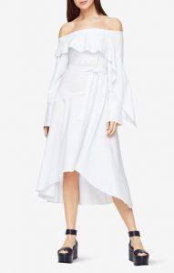 bcbg, runway, dress, allwhite