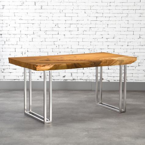 table bois tranche d'arbre artemano décor salle à manger wood table thailande handmade fait à la main