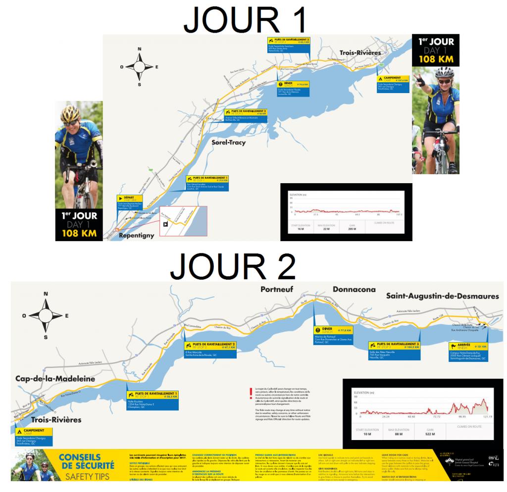 itinéraire cyclo-défi