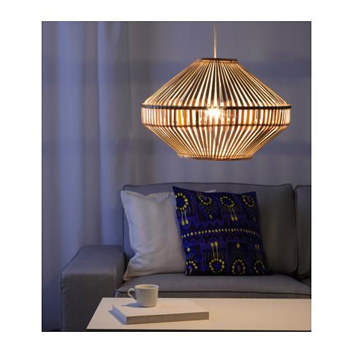 ikea lamp bamboo deocration lampe luminaire plafonnier maison