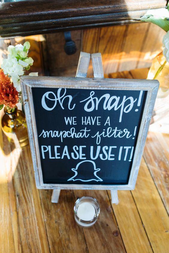 snapchat filter wedding