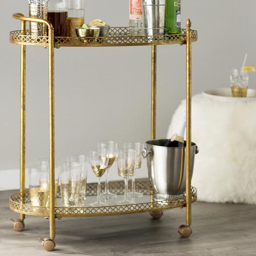 gold doré party salle à manger modern moderne chair déco salle à manger bar cart