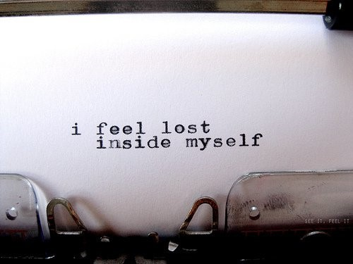 lost inside myself