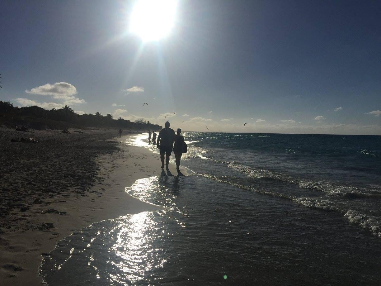 couple, cuba, soleil, mer