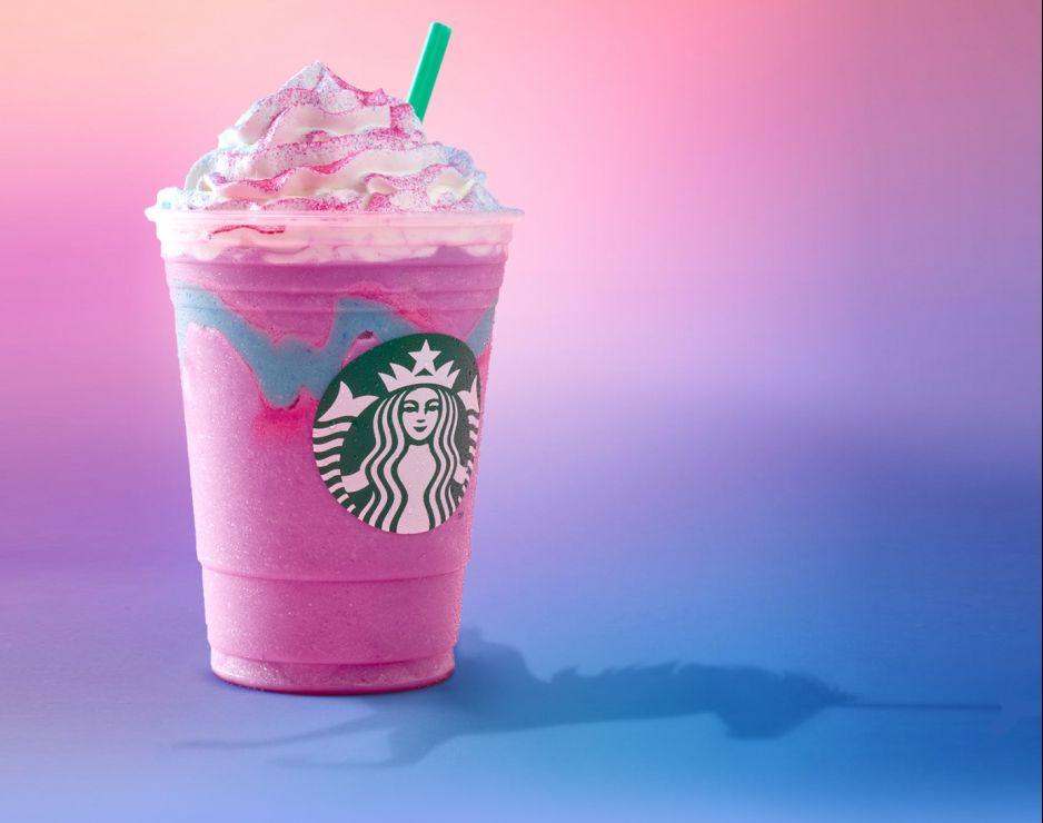 frappuccino multicolore, unicorn