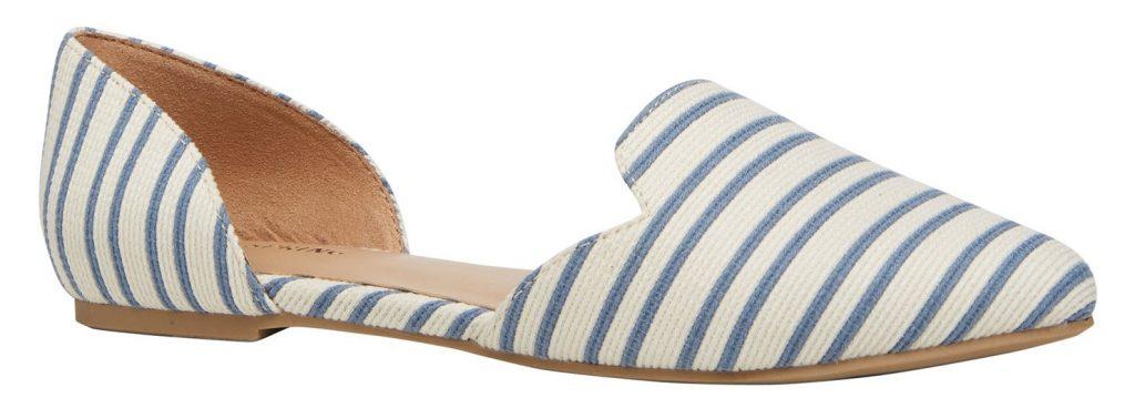 sandale blanche rayée