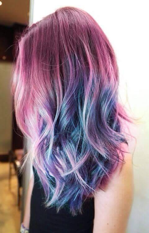 colored hair, pastel hair, hair goals 2017