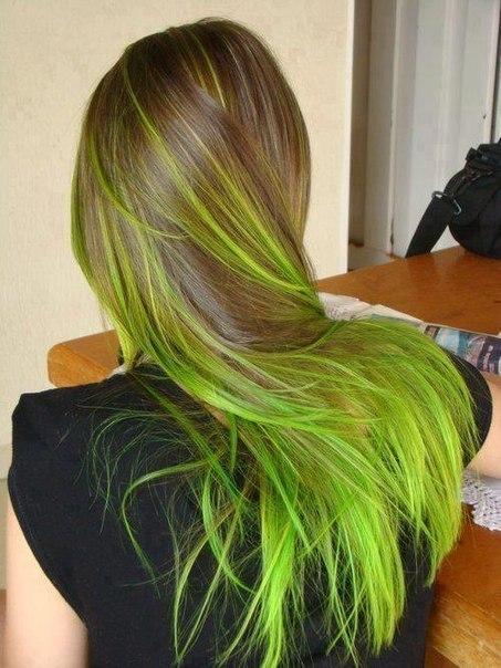 green hair, colored hair, hair goals