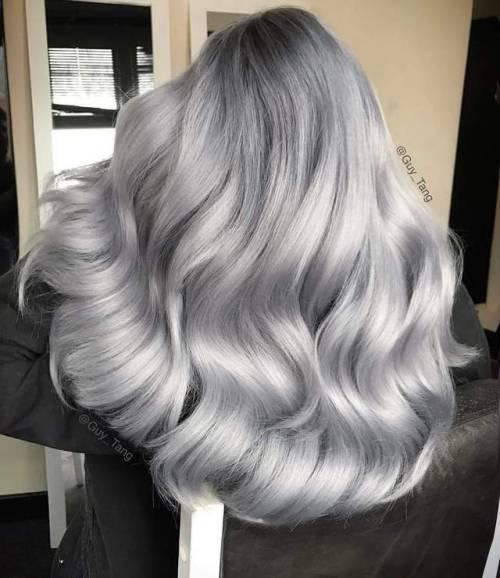 coclored hair, hair goals, grey hair