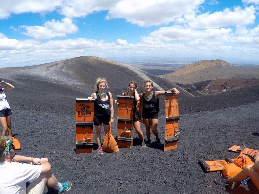 cerro negro, léon, nicaragua, voyage