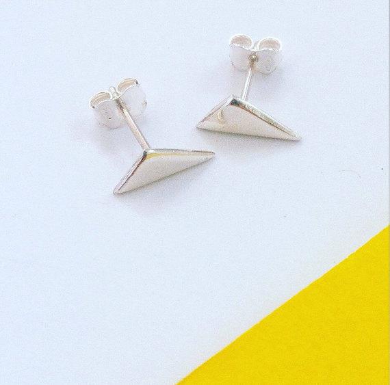 earrings studs gemetric minimaliste lete-sur-etsy