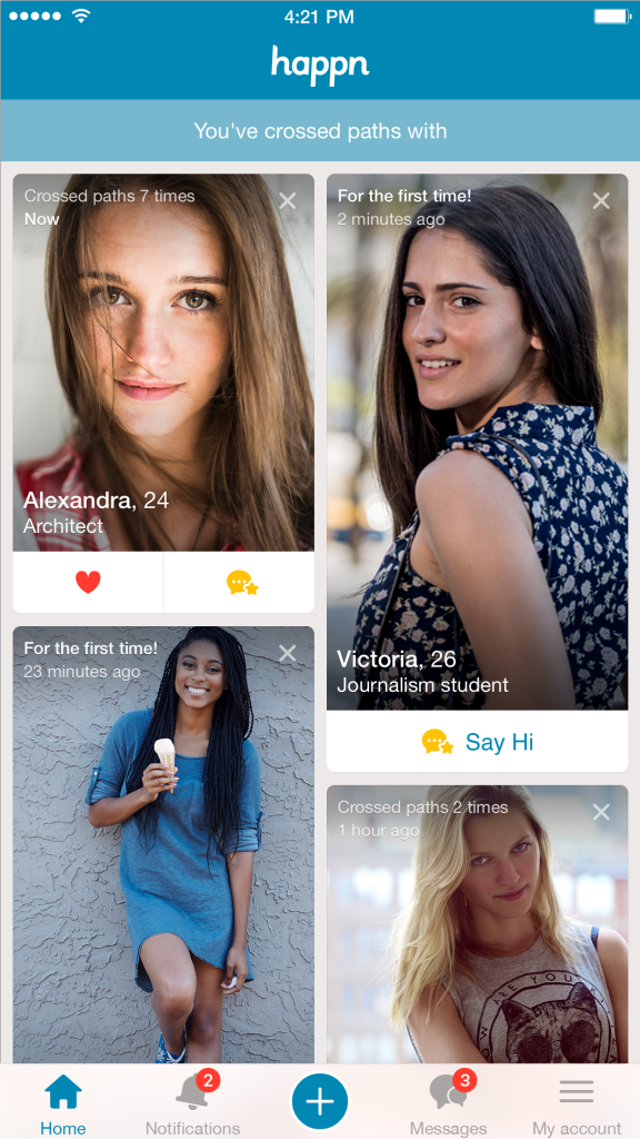happn, tinder, applications de rencontre