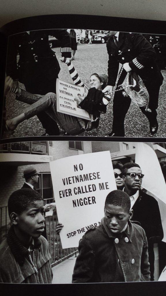 Manifestations, guerre au Vietnam, lutte des Afro-Américains