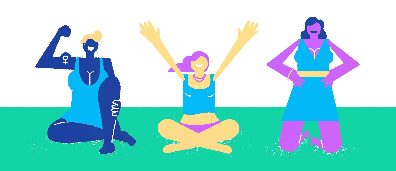 Assumer son décolleté, illustratrice Amélie Tourangeau, être fière de son corps, comprendre les lignes de son corps, se sentir fière et belle, article féminin, blog le cahier