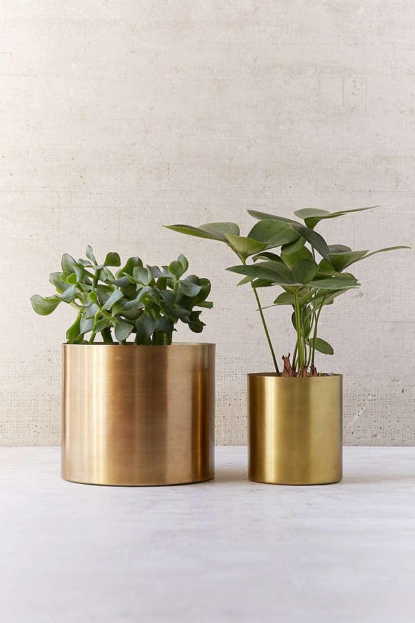 métal pot plantes