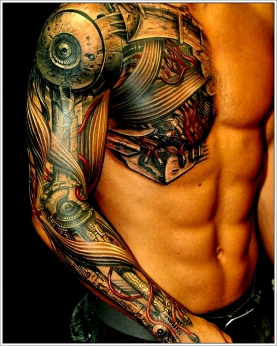 tattoo, peau, corps