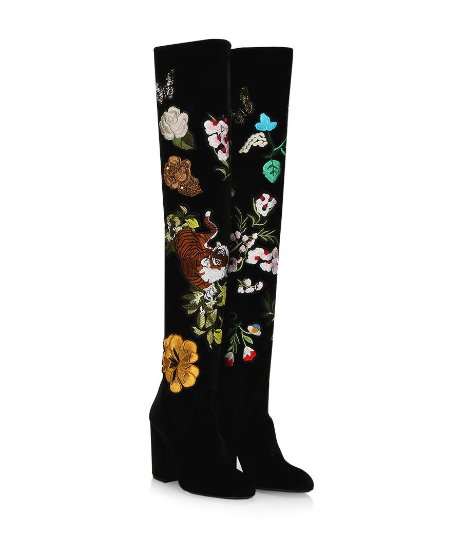 bottes cuissarde fleurs