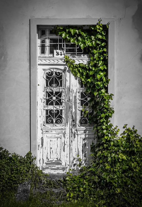 door porte clé chemin