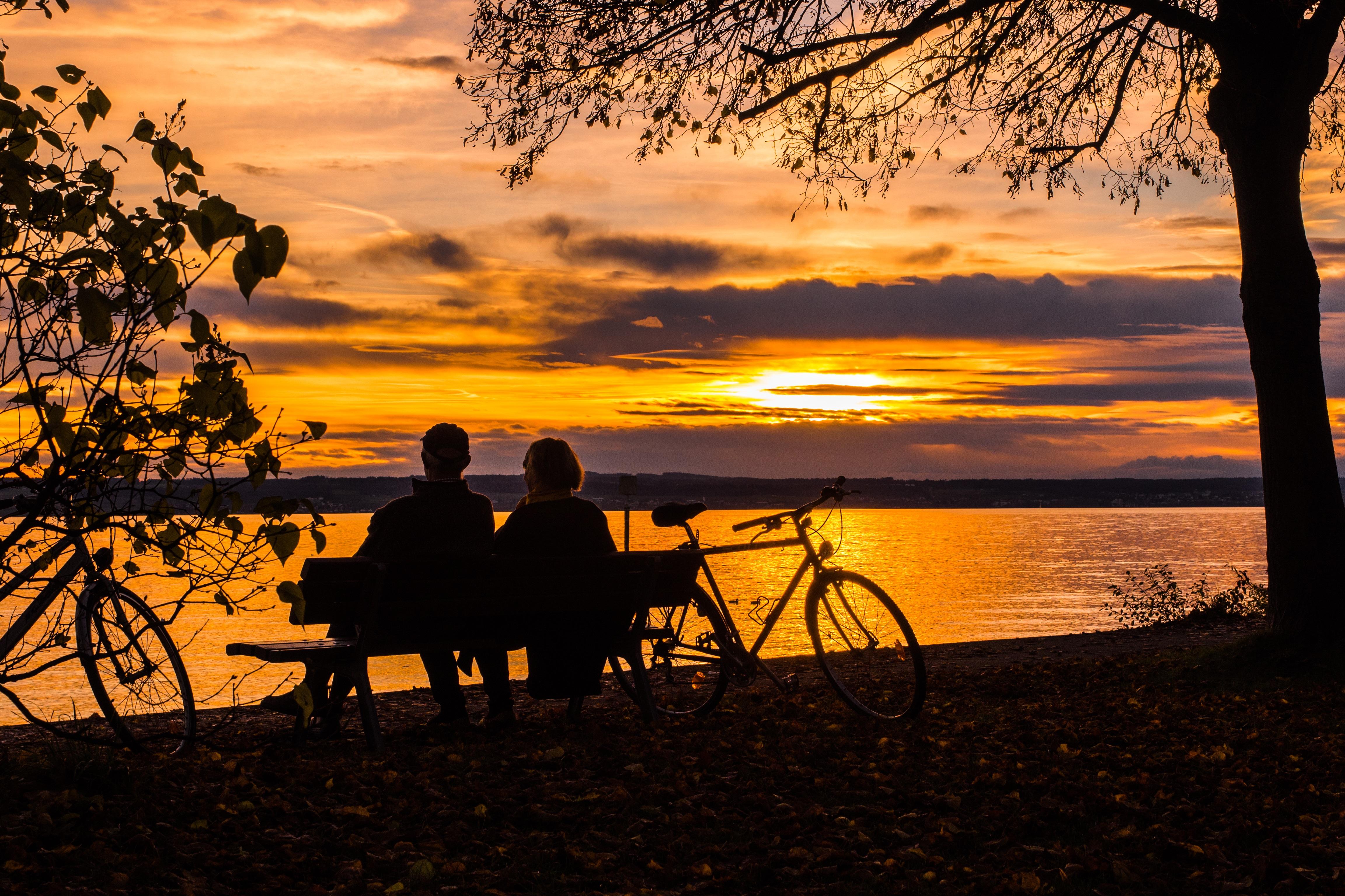 sunset couple vieillir