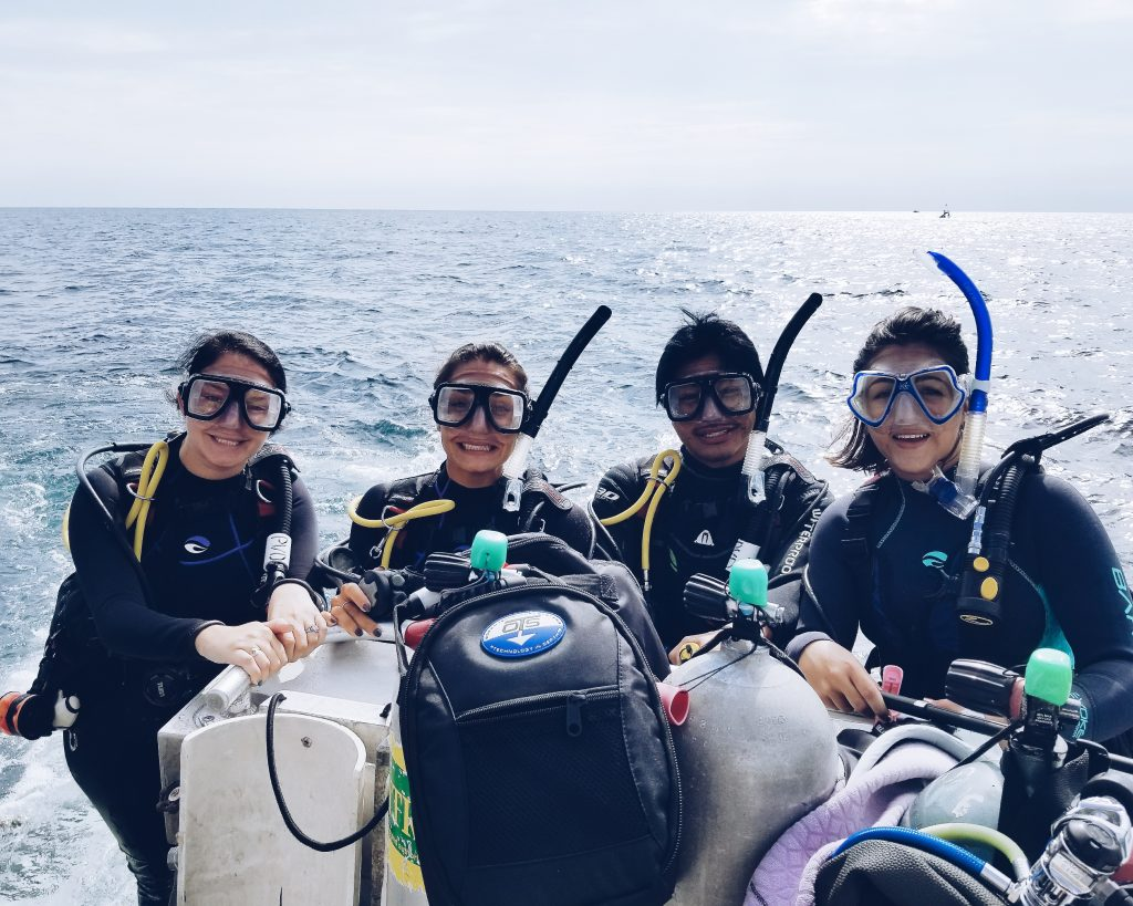 Camille diving trip