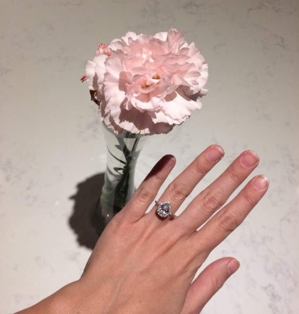 bague mariage fiancée
