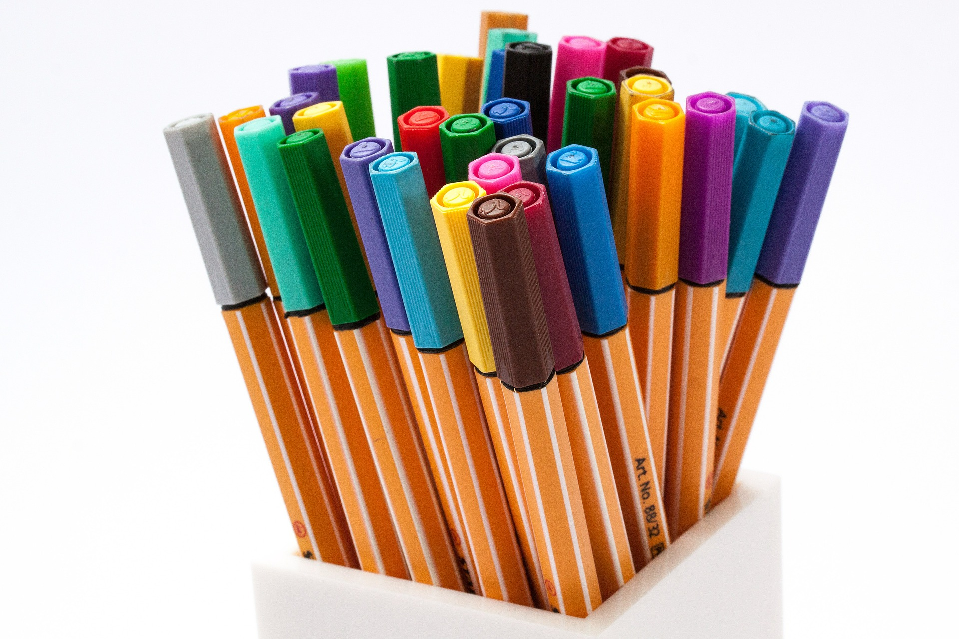 stylo couleur boite note