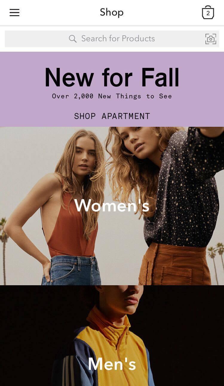 application magasinage vêtements fashion mode