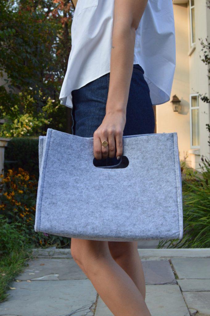 DIY felt handbag