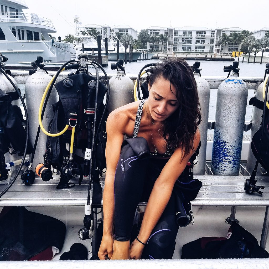 Camille Diving prep