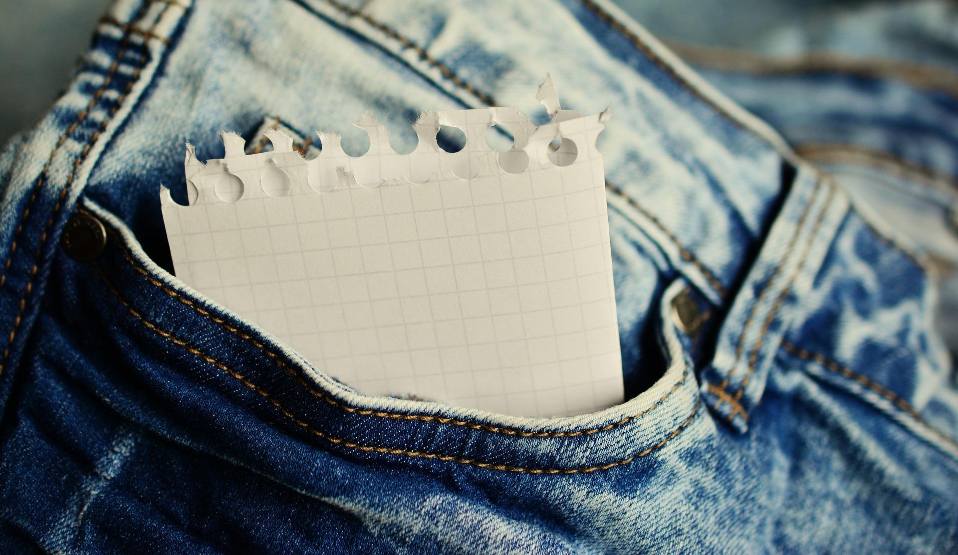liste jeans papier organisation