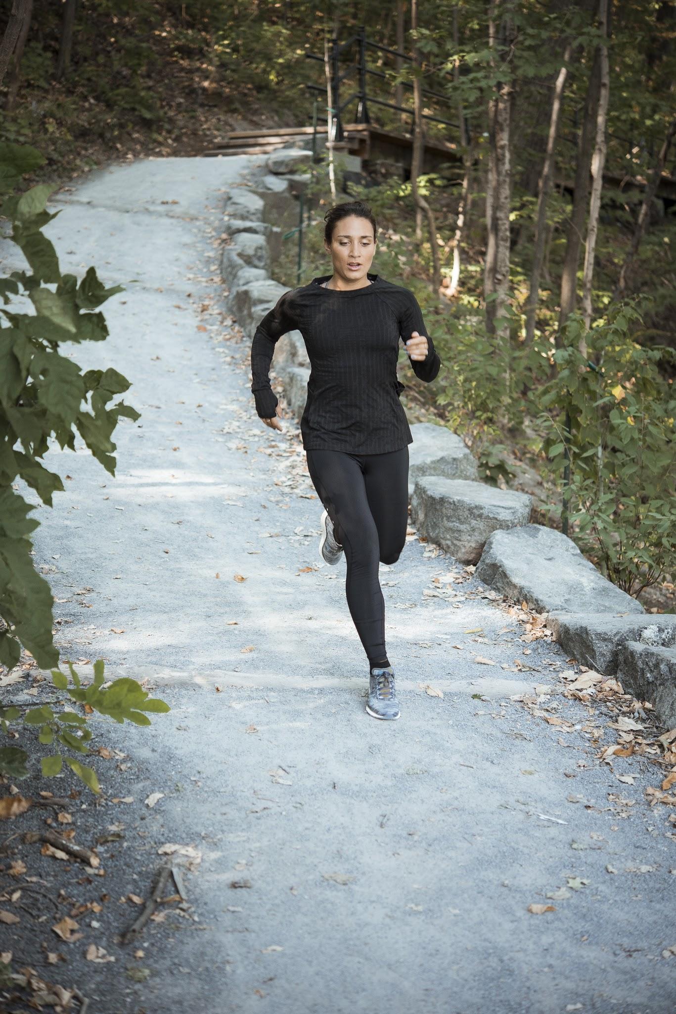 course matinale, exercise sur le mont-royal