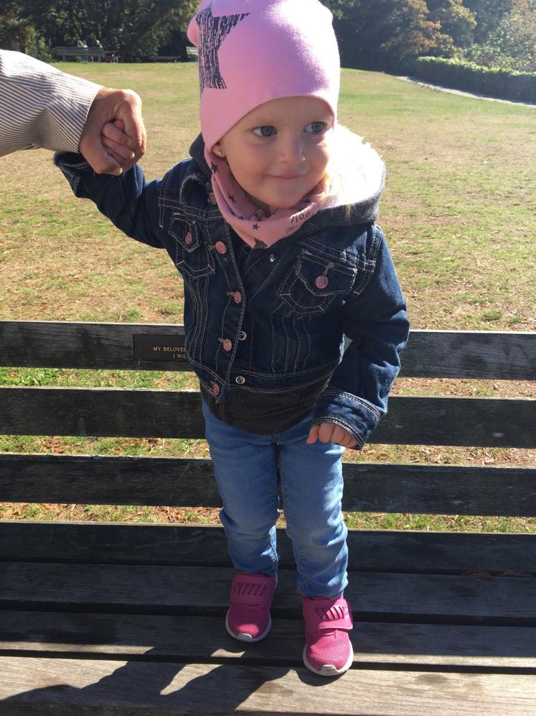 Enfant, vêtement, automne, tuque, veste en jeans