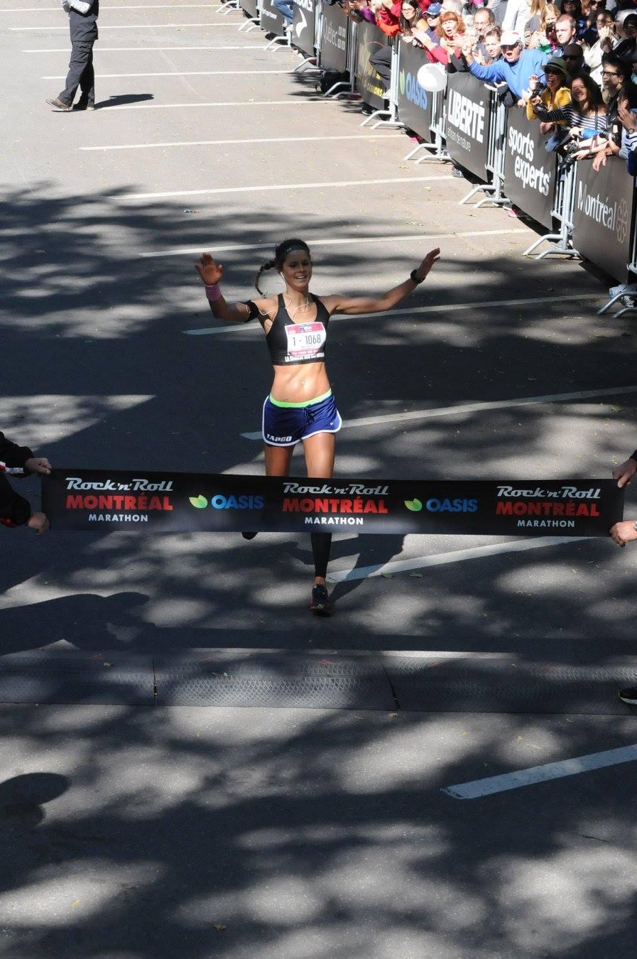 ligne d'arrivée, marathon de montréal