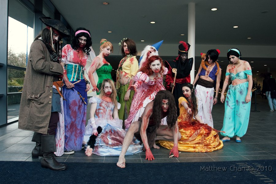 halloween, disney princess, zombie
